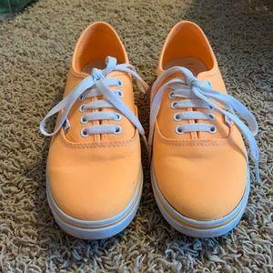Bright neon orange Vans sneakers 🧡🍊